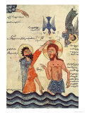 Baptism of Christ  from a Gospel  1330