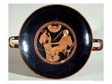 Attic Red-Figure Cup Depicting Phoenix and Briseis  Achilles' Captive  circa 490 BC