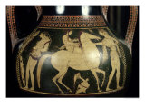 Attic White-Figure Amphora Depicting Amazons Preparing for Battle  circa 525-520 BC