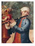 A Flautist  Detail from a Screen