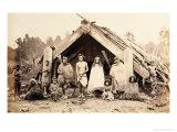 Maori Family  New Zealand  circa 1880s