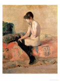 Nude Woman Seated on a Divan  1881