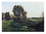 View from Moncel-Sur-Seine  circa 1868