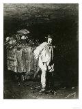 Interior of Catacombs  Paris  1861