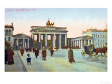 Postcard Depicting the Brandenburg Gate in Berlin  Pre 1914
