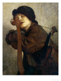 The Little Violinist Sleeping  1883