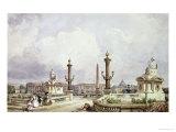 The Place de La Concorde  circa 1837