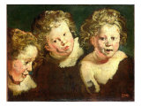 Three Childrens Heads  circa 1618