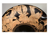Attic Red-Figure Cup Depicting Scenes from the Trojan War  circa 490 BC