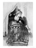 """Rosine  Illustration from Act I Scene 3 of """"The Barber of Seville"""" 1876"""