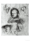 Six Heads with Saskia Van Uylenburgh in the Centre  1636