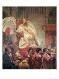 Pope Pius VIII in St Peter's on the Sedia Gestatoria