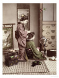 Hairdressing  Japan  circa 1880