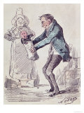 Toujours Bonne!  a Maid Handing a Man His Illegitimate Child