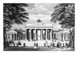 The Brandenburg Gate in Berlin  Mid 19th Century