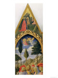 Santa Trinita Altarpiece  Frame and Pinnacles by Lorenzo Monaco Completed circa 1434
