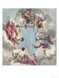 Design for a Ceiling: the Four Cardinal Virtues  Justice  Prudence  Temperance and Fortitude