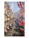 The Rue Montorgueil  Paris  Celebration of June 30  1878