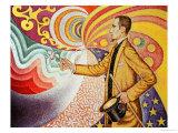Against the Enamel of Background Rhythmic with Beats and Angels Giclée par Paul Signac