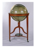 A Regency Terrestrial Library Globe on Mahogany Stand  1806 (Mixed Media)
