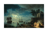 Night: a Port in the Moonlight  1748