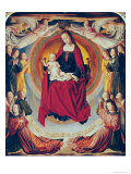 Coronation of the Virgin  Centre Panel from the Bourbon Altarpiece  circa 1498