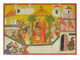 "The Marriage of Rama and His Brothers from the ""Sangri Ramayana"""