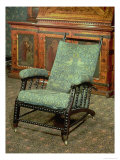 "Chair by William Morris  Upholstered in Original ""Bird"" Woollen Tapestry  circa 1870"