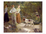 View of the Artist's Garden with His Daughters  1903