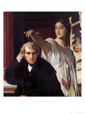 Portrait of the Italian Composer Cherubini and the Muse of Lyrical Poetry  1842