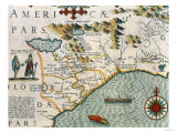 "Coast of North Carolina  Detail of the Map Titled ""Virginiae Item et Floridae""  Pub 1619"