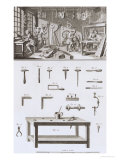 Plate XVIII: the Instrument Maker's Workshop and Tools