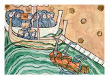 A Drowning Viking  Possibly Olav Trygvason of Norway at the Battle of Svold on 9th September 1000