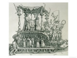 The Triumphal Procession of Emperor Maximilian I of Germany Showing the Wedding Chariot  Pub 1526