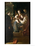 Mystical Marriage of St Catherine and the Christ Child with Peter the Martyr  1617-21