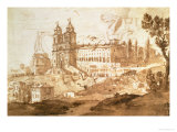 View of the Church of S Trinita Dei Monti  Rome  circa 1632