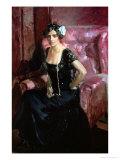 Clotilde in an Evening Dress  1910