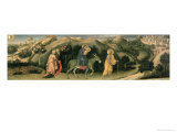 Adoration of the Magi Altarpiece; Central Predella Panel Depicting the Flight into Egypt  1423
