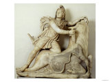 Mithras Sacrificing the Bull  Marble Relief  Roman  2nd Century