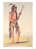 Sioux Ball Player Ah-No-Je-Nange  &quot;He Who Stands on Both Sides&quot;  19th Century