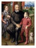 Portrait of the Artist's Family  Minerva Amilcare and Asdrubale  1559