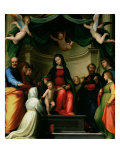 The Mystic Marriage of St Catherine of Siena with Saints  1511
