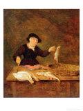 A Fishmonger  circa 1667