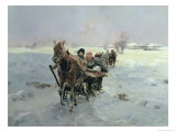 Sleighs in a Winter Landscape
