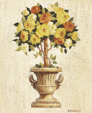Yellow and Orange Rose Topiary