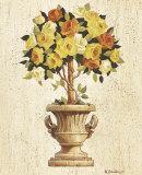 Yellow and Orange Rose Topiary