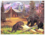 Bears on Logs