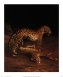 Two Leopards Playing in the Exeter Change Menagerie  c1808