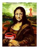 Starbucks with Mona Lisa