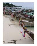 Longboats in a row